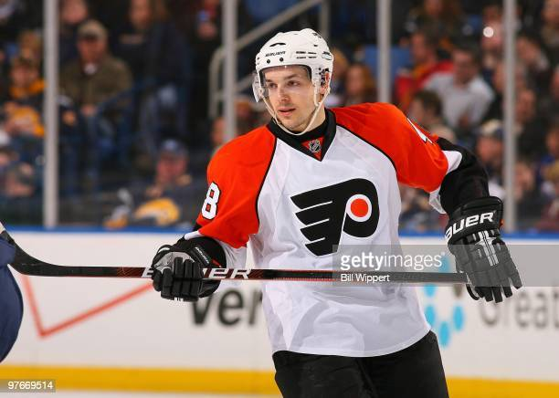 Danny Briere of the Philadelphia Flyers skates against the Buffalo Sabres on March 5 2010 at HSBC Arena in Buffalo New York