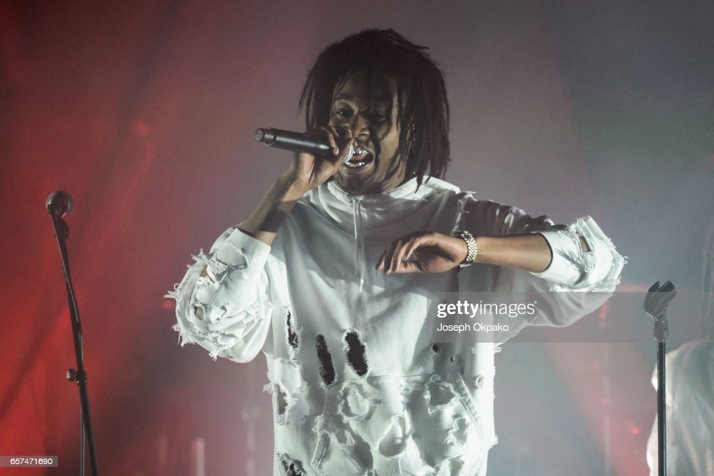 Danny Brown performs with Gorillaz for their new album 'Humanz' live on March 24, 2017 in London, United Kingdom.