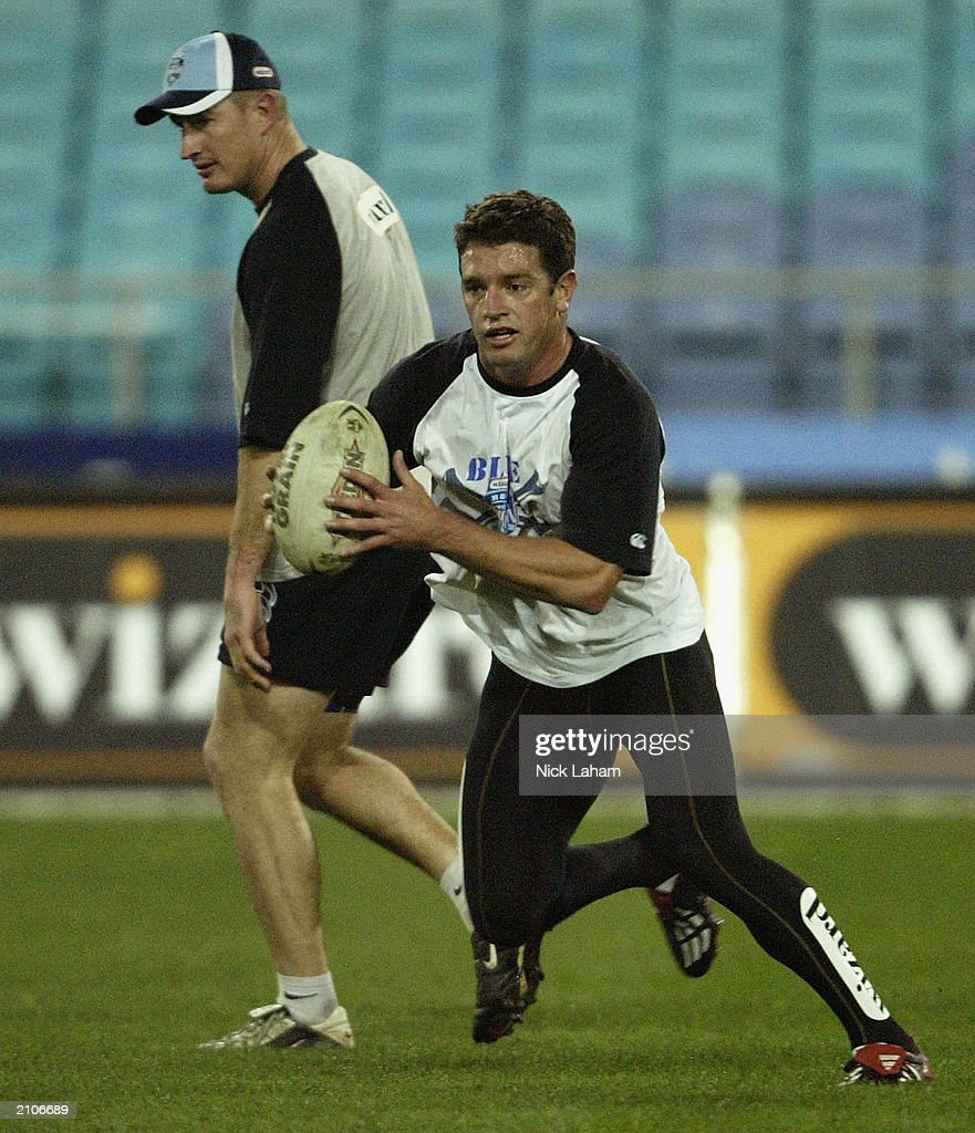 Danny Buderus in action during New South Wales State of Origin Training June 24, 2003 at Telstra Stadium in Sydney, Australia.