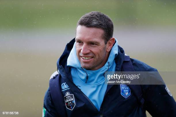 Danny Buderus team advisor of the Blues during a New South Wales Blues State of Origin training session at Moore Park on June 19 2018 in Sydney...