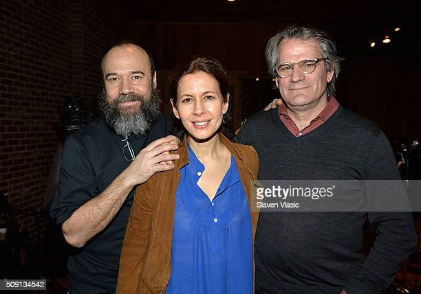 Danny Burstein Jessica Hecht and Bartlett Sher attend 2016 Broadway Cast Recording of 'Fiddler On The Roof' at MSR Studios in Times Square on...