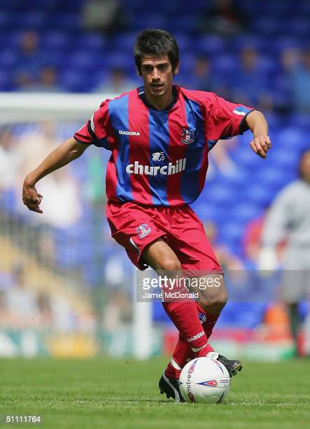 Danny Butterfield of Palace in action during the preseason friendly match between Ipswich Town v Crystal Palace at Portman Road on July 24 2004 in...