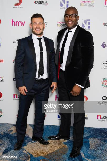 Danny Care and Ugo Monye attend the Legends of Football fundraiser at The Grosvenor House Hotel on October 2 2017 in London England The annual...