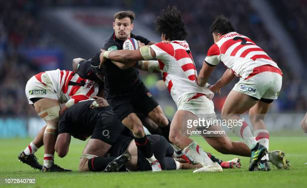 Danny Care of England during the Quilter International match between England and Japan on November 17, 2018 in London, United Kingdom.