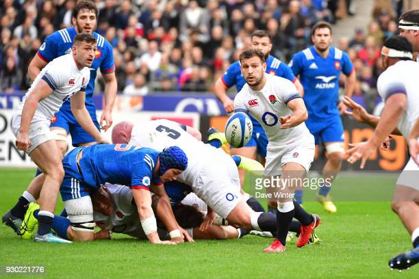 Danny Care of England during the RBS Six Nations match between France and England at Stade de France on March 10 2018 in Paris France