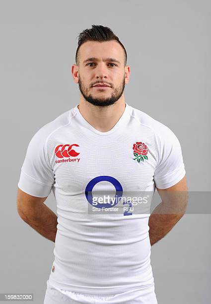 Danny Care of England poses for a portrait during the England rugby union squad photo call at Weetwood Hall on January 21 2013 in Leeds England