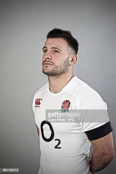 Danny Care of England poses for a portrait during the England Six Nations Squad Photo Call at the Penny Hill Hotel on January 20 2014 in Bagshot...