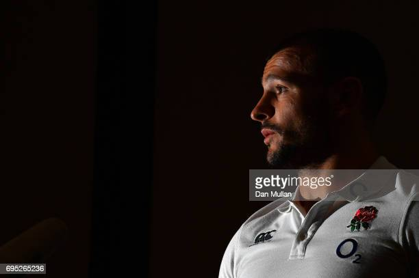 Danny Care of England speaks to the media during a press conference at the Sheraton Hotel on June 12 2017 in Buenos Aires Distrito Federal