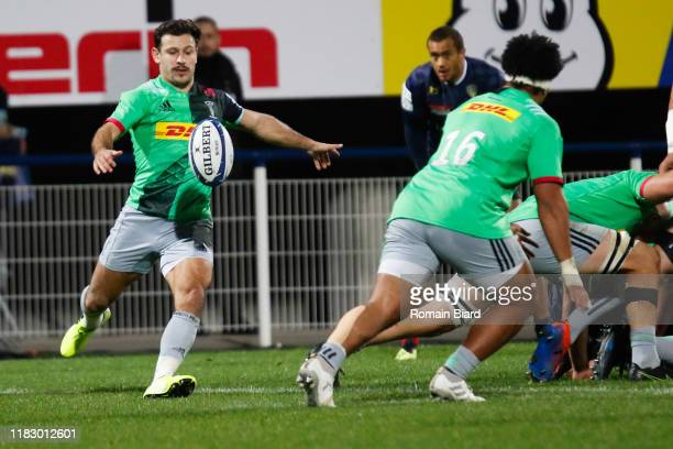 Danny CARE of Harlequins during the European Rugby Champions Cup Pool 3 match between ASM Clermont Auvergne and Harlequin FC on November 16 2019 in...