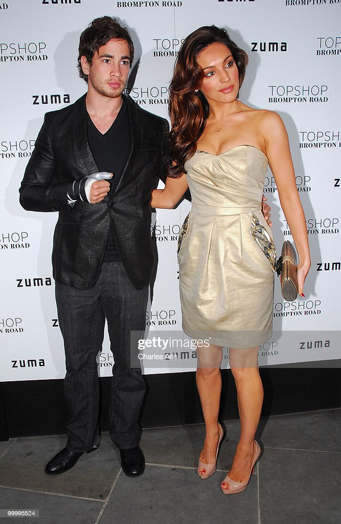Danny Cipriani and Kelly Brook attend a private dinner at Zuma restaurant hosted by Phillip Green to celebrate opening of TopShop's Knightsbridge store on May 19, 2010 in London, United Kingdom.