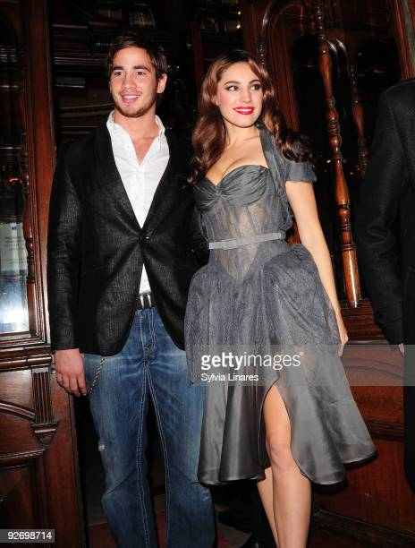 Danny Cipriani and Kelly Brook attend Calendar Girls Cast Change held at Noel Coward Theatre on November 3, 2009 in London, England.
