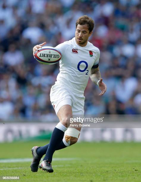 Danny Cipriani of England during the Quilter Cup match between England and Barbarians at Twickenham Stadium on May 27 2018 in London England