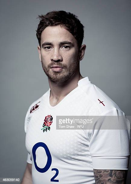 Danny Cipriani of England poses for a picture during the England rugby headshots session at Pennyhill Park on January 31, 2015 in Bagshot, England.