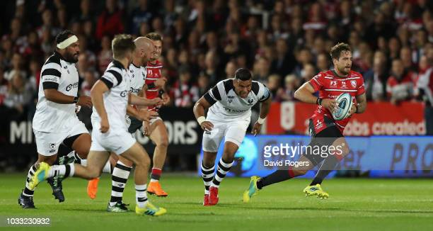 Danny Cipriani of Gloucester breaks with the ball during the Gallagher Premiership Rugby match between Gloucester Rugby and Bristol Bears at...