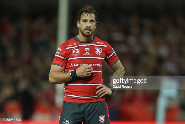 Danny Cipriani of Gloucester looks on during the Gallagher Premiership Rugby match between Gloucester Rugby and Bristol Bears at Kingsholm Stadium on...