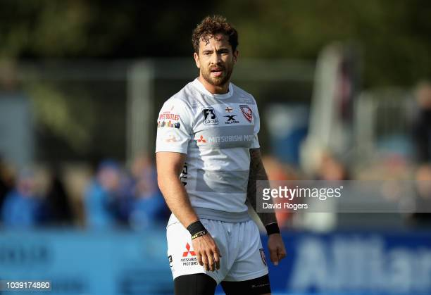Danny Cipriani of Gloucester looks on during the Gallagher Premiership Rugby match between Saracens and Gloucester Rugby at Allianz Park on September...