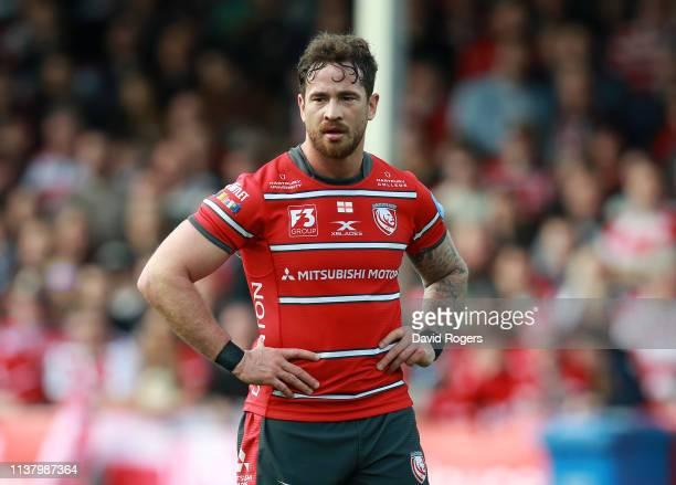 Danny Cipriani of Gloucester looks on during the Gallagher Premiership Rugby match between Gloucester Rugby and Wasps at Kingsholm Stadium on March...