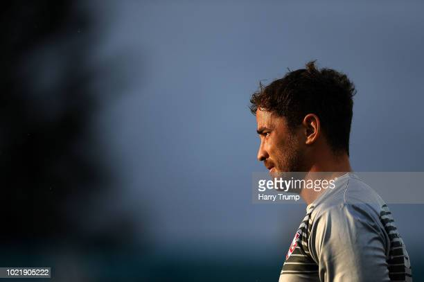 Danny Cipriani of Gloucester Rugby during the Pre Season Friendly match between Gloucester Rugby and Dragons at Kingsholm Stadium on August 23 2018...