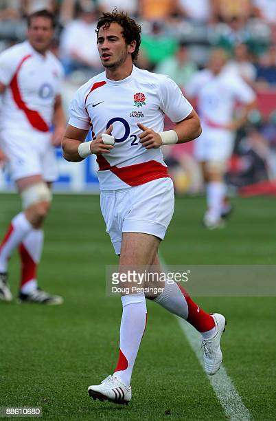 Danny Cipriani of the England Saxons in action as he substituted late in the game against Ireland A during the Churchill Cup Championship at Dick's...