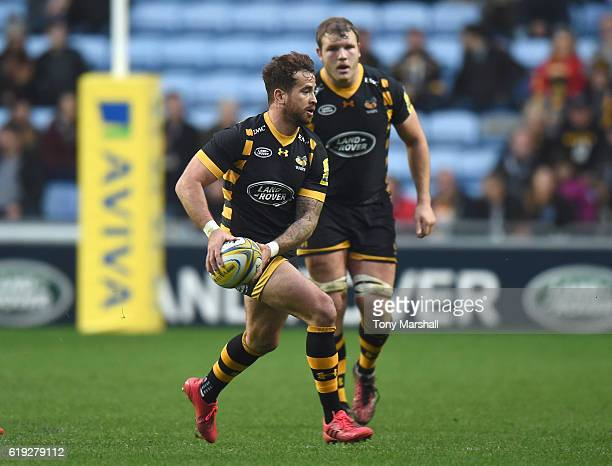 Danny Cipriani of Wasps during the Aviva Premiership match between Wasps and Newcastle Falcons at The Ricoh Arena on October 30 2016 in Coventry...