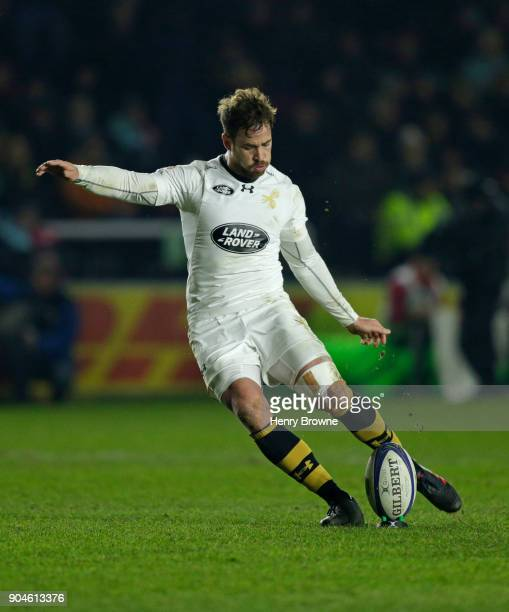 Danny Cipriani of Wasps during the European Rugby Champions Cup match between Harlequins and Wasps at Twickenham Stoop on January 13 2018 in London...