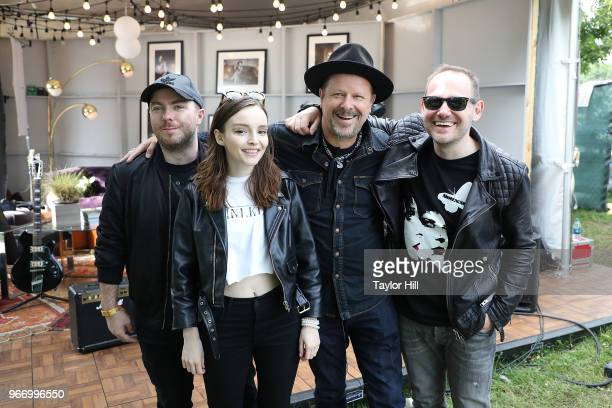 Danny Clinch and Chvrches attend Day 3 of the 2018 Governors Ball Music Festival at Randall's Island on June 3 2018 in New York City