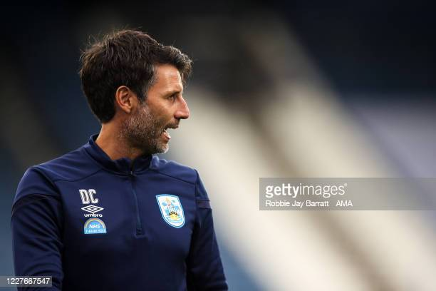 Danny Cowley head coach / manager of Huddersfield Town ahead of the Sky Bet Championship match between Huddersfield Town and West Bromwich Albion at...
