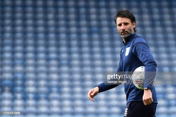 Danny Cowley manager of Huddersfield Town looks on ahead of the Sky Bet Championship match between Huddersfield Town and Luton Town at John Smith's...
