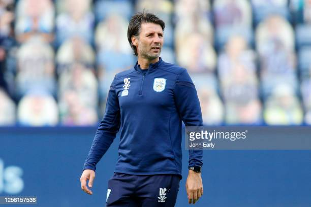 Danny Cowley the Manager of Huddersfield Town before the Sky Bet Championship match between Sheffield Wednesday and Huddersfield Town at Hillsborough...