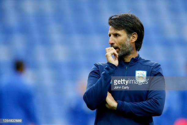 Danny Cowley the Manager of Huddersfield Town during the Sky Bet Championship match between Reading and Huddersfield Town at Madejski Stadium on July...