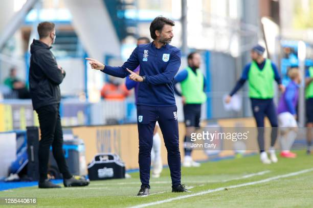 Danny Cowley the Manager of Huddersfield Town during the Sky Bet Championship match between Huddersfield Town and Luton Town at John Smith's Stadium...