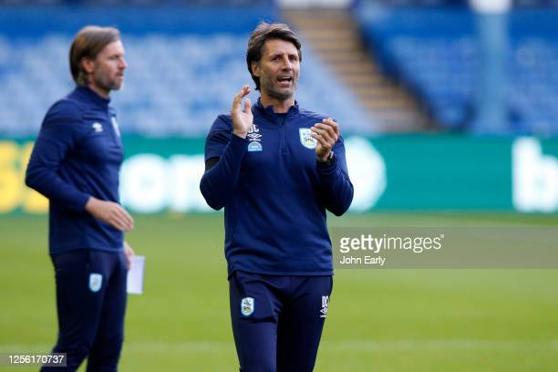 Danny Cowley the Manager of Huddersfield Town during the Sky Bet Championship match between Sheffield Wednesday and Huddersfield Town at Hillsborough...