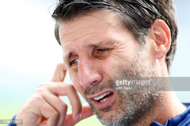 Danny Cowley the Manager of Huddersfield Town during the Sky Bet Championship match between Huddersfield Town and West Bromwich Albion at John...