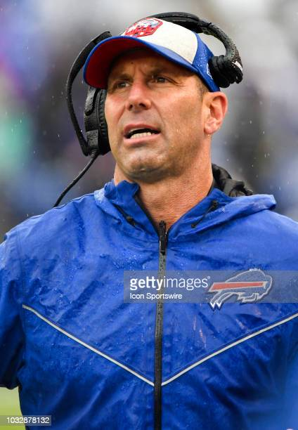 Danny Crossman Buffalo Bills Special Teams Coordinator in action on September 9 at MT Bank Stadium in Baltimore MD The Baltimore Ravens defeated the...