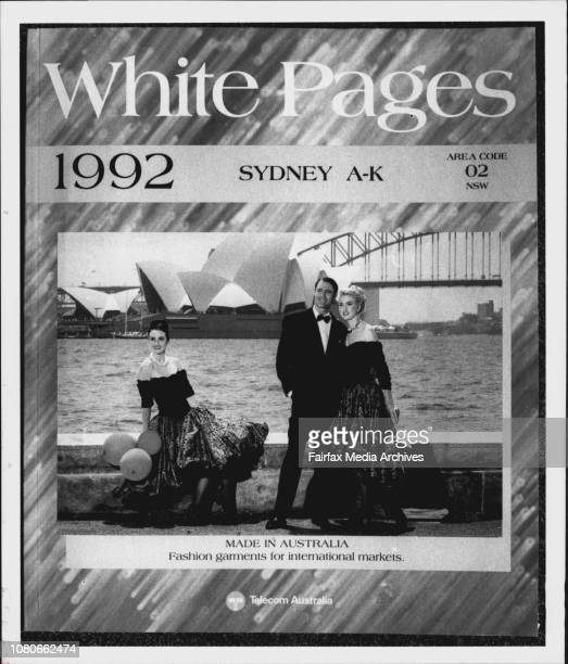 Danny Curran National Manager Of The White Pages Telephone Directory With A Copy 1992
