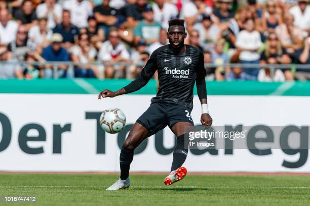 Danny da Costa of Eintracht Frankfurt controls the ball during the DFB Cup first round match between SSV Ulm 1846 Fussball and Eintracht Frankfurt at...