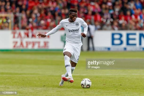 Danny da Costa of Eintracht Frankfurt controls the ball during the Bundesliga match between SportClub Freiburg and Eintracht Frankfurt at...
