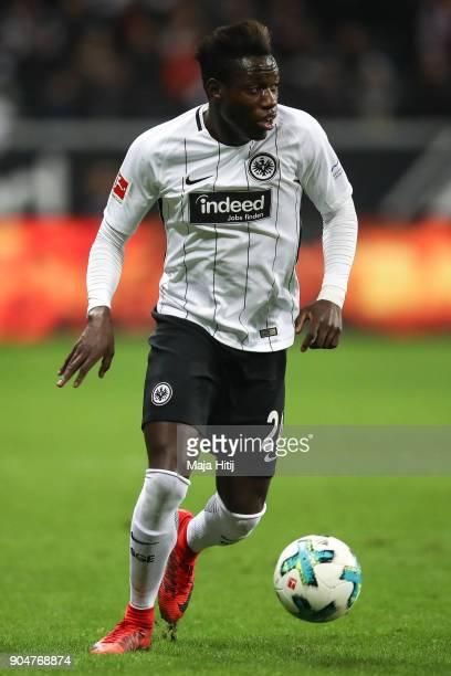 Danny da Costa of Eintracht Frankfurt controls the ball during the Bundesliga match between Eintracht Frankfurt and SportClub Freiburg at...