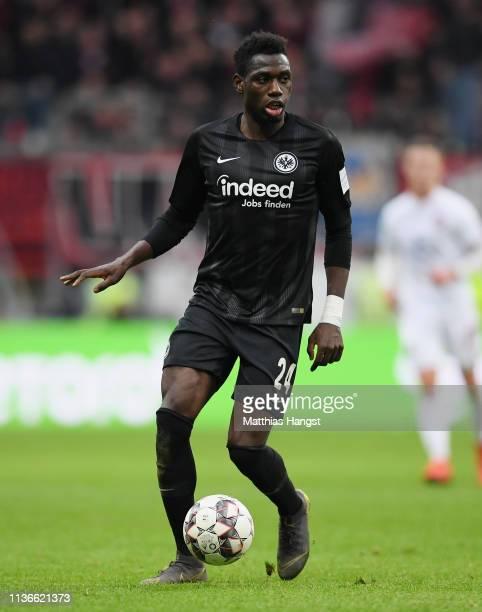 Danny da Costa of Frankfurt controls the ball during the Bundesliga match between Eintracht Frankfurt and 1 FC Nuernberg at CommerzbankArena on March...