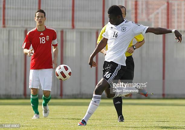 Danny da Costa Vieira of Germany in action during the U19 Hungary v U19 Germany Elite Round match at Slana Bara stadium on May 30 2012 in Novi Sad...
