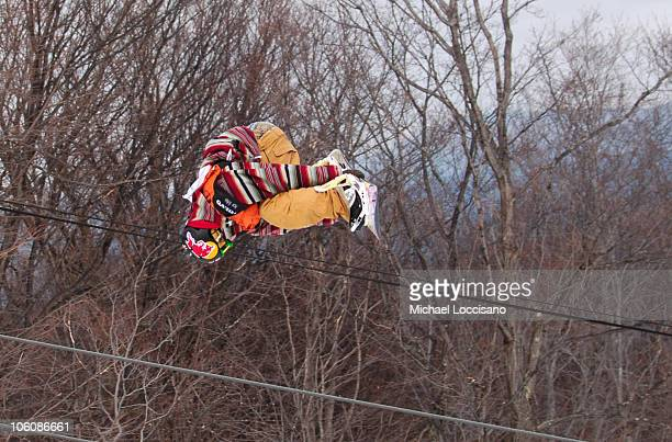 Danny Davis Halfpipe Finals March 18th during 24th Annual Burton US Open Snowboarding Championships at Stratton Mountain in Stratton Vermont United...