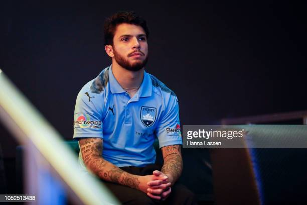 Danny De Silva watches A-League match between the Sydney FC and Adelaide FC during The Star Home Away From Home Night at the 24/7 Sports Bar at The...