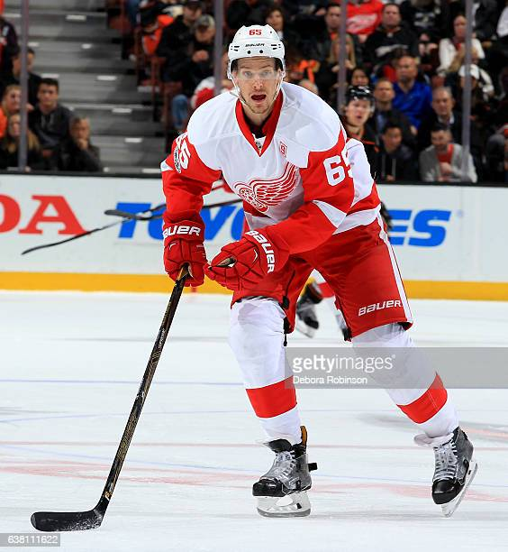 Danny DeKeyser of the Detroit Red Wings skates during the game against the Anaheim Ducks on January 4 2017 at Honda Center in Anaheim California
