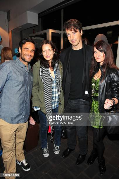 Danny Demauro, Josephine Meckseper, Richard Phillips and ? attend Cynthia Rowley for ROXY launch party at CO-OP Barneys New York NYC on April 1, 2010.