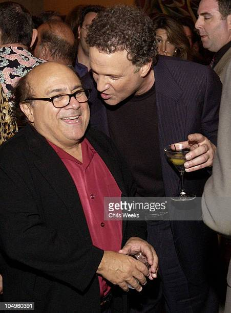 Danny DeVito Albert Brooks during The InLaws Premiere Party at The Sunset Room in Hollywood California United States