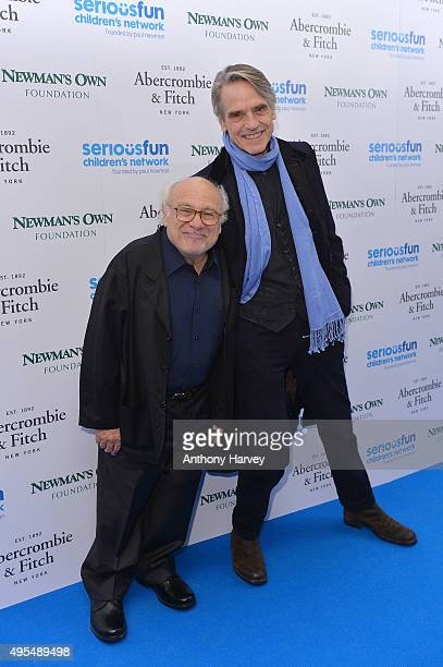 Danny DeVito and Jeremy Irons attend the SeriousFun Children's Network London Gala at The Roundhouse on November 3 2015 in London England