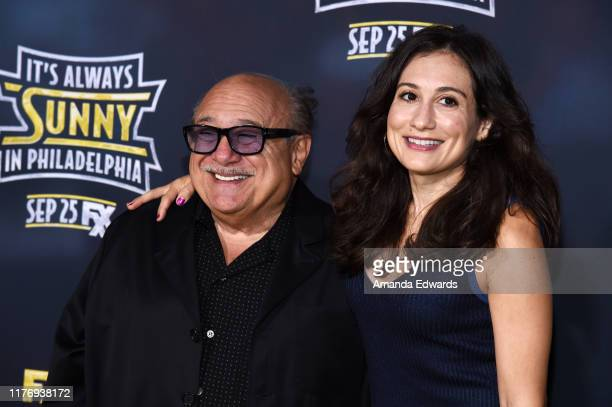 "Danny DeVito and Lucy DeVito arrive at the premiere of FX's ""It's Always Sunny In Philadelphia"" Season 14 at the TCL Chinese 6 Theatres on September..."