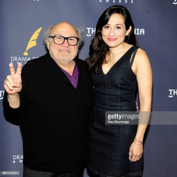 Danny DeVito and Lucy DeVito attend 2017 Drama Desk Awards Arrivals at Anita's Way on June 4 2017 in New York City