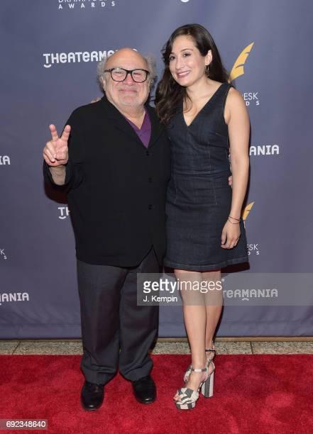 Danny DeVito and Lucy DeVito attend the 2017 Drama Desk Awards at Anita's Way on June 4, 2017 in New York City.