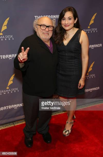 Danny DeVito and Lucy DeVito attend the 2017 Drama Desk Awards at Town Hall on June 4 2017 in New York City